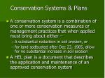 conservation systems plans