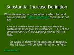 substantial increase definition