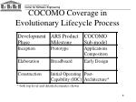 cocomo coverage in evolutionary lifecycle process