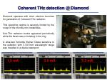 coherent thz detection @ diamond