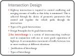 intersection design