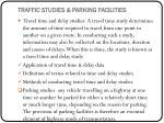 traffic studies parking facilities
