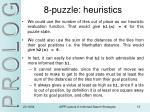 8 puzzle heuristics