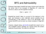 bfs and admissibility