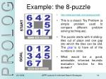 example the 8 puzzle
