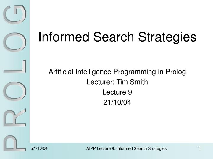 informed search strategies n.