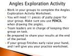 angles exploration activity