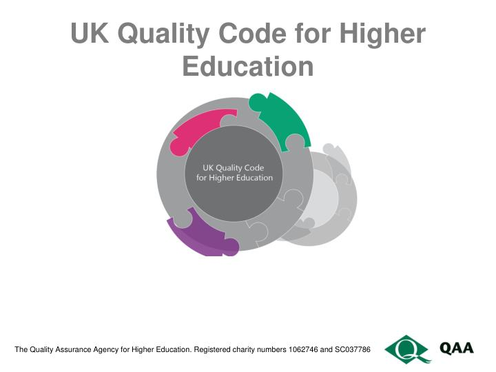 uk quality code for higher education n.