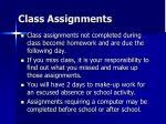 class assignments
