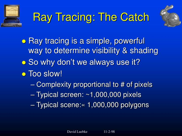Ray Tracing: The Catch