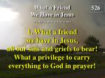 what a friend we have in jesus verse 1