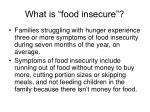 what is food insecure