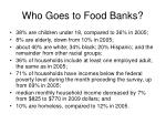 who goes to food banks