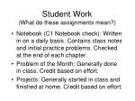 student work what do these assignments mean2