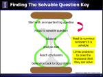 finding the solvable question key