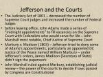 jefferson and the courts