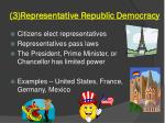 3 representative republic democracy