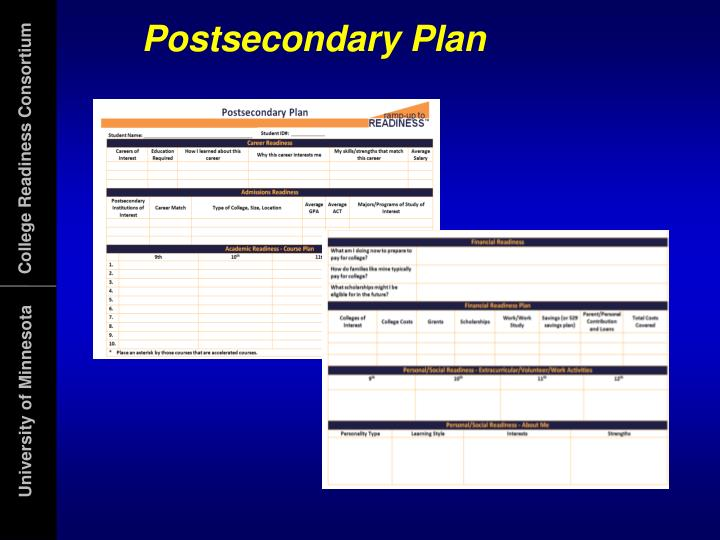 Postsecondary Plan