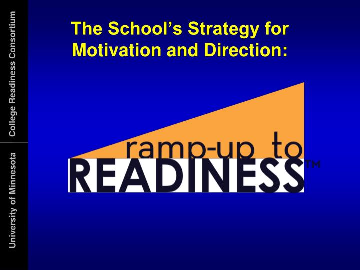The School's Strategy for Motivation and Direction: