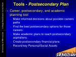 tools postsecondary plan