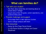 what can families do