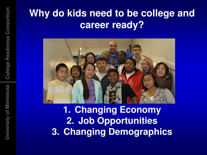 Why do kids need to be college and career ready?