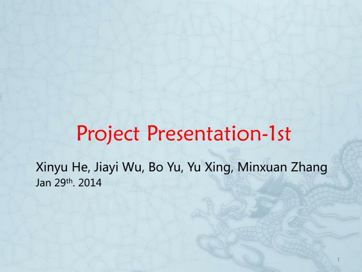 project presentation 1st n.