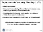 importance of continuity planning 2 of 2