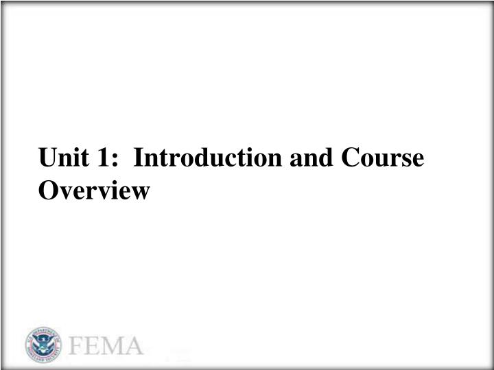 unit 1 introduction and course overview n.