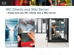 irc clients and wiki server