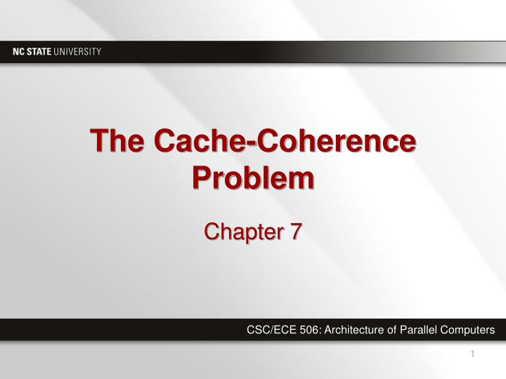 the cache coherence problem n.