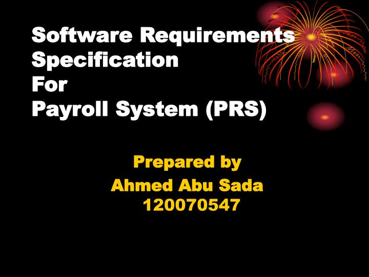 software requirements specification for payroll system prs n.