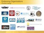 endorsing organizations partial listing