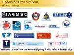 endorsing organizations partial listing1