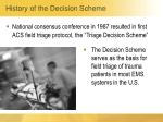 history of the decision scheme1
