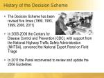 history of the decision scheme2