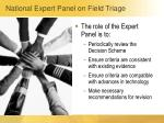 national expert panel on field triage1