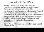 america in the 1950 s