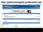 http petersonenglish proboards com