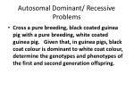 autosomal dominant recessive problems