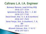 caltrans l a i a engineer