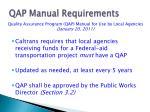 qap manual requirements