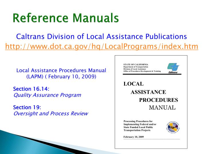 Reference manuals