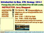 introduction to bus 478 strategy 2014 1