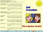 self evaluation