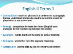 english ii terms 1
