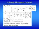 cylindrical resonator cavity q