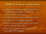 pseo concurrent courses