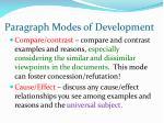 paragraph modes of development