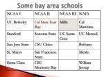 some bay area schools
